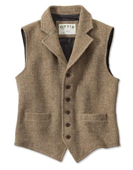 04e268dc2da7e Lightweight Highland Tweed Casual Vest | Gentleman Style | Tweed ...