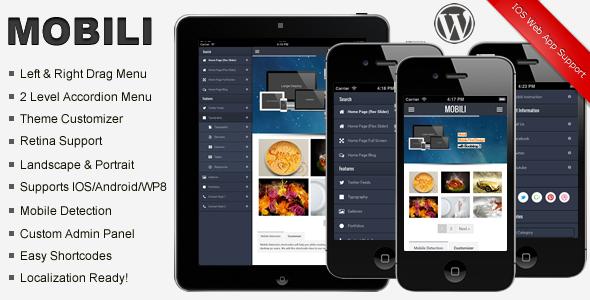 Mobili Premium WordPress Mobile Theme | WordpressThemeDatabase ...