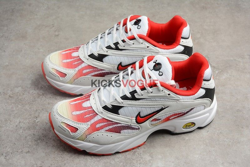 44308a0d57fb5 Supreme x Nike Zoom Streak Spectrum Plus White  Habanero Red  AQ1279 ...