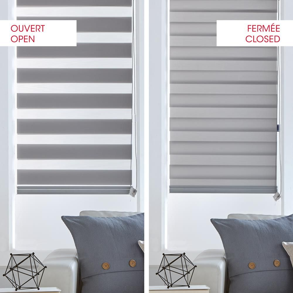 Grey sheer shade cortinas persianas y cortinas modernas for Fenetre pvc 50x50