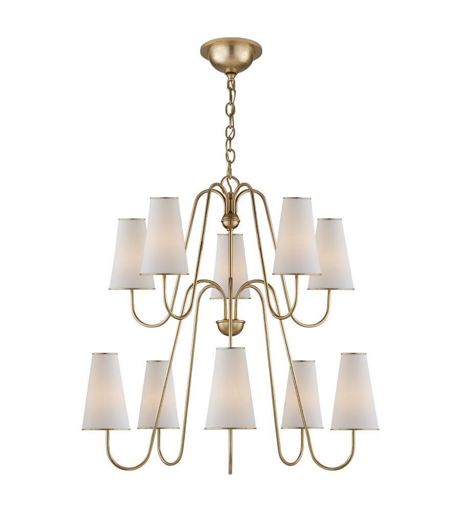 Visual comfort arn 5052g l aerin modern montreuil chandelier in visual comfort arn 5052g l aerin modern montreuil chandelier in gild with linen shades arubaitofo Choice Image