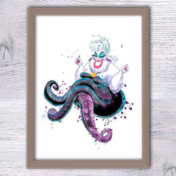 The Little Mermaid Art Print Disney Villain URSULA