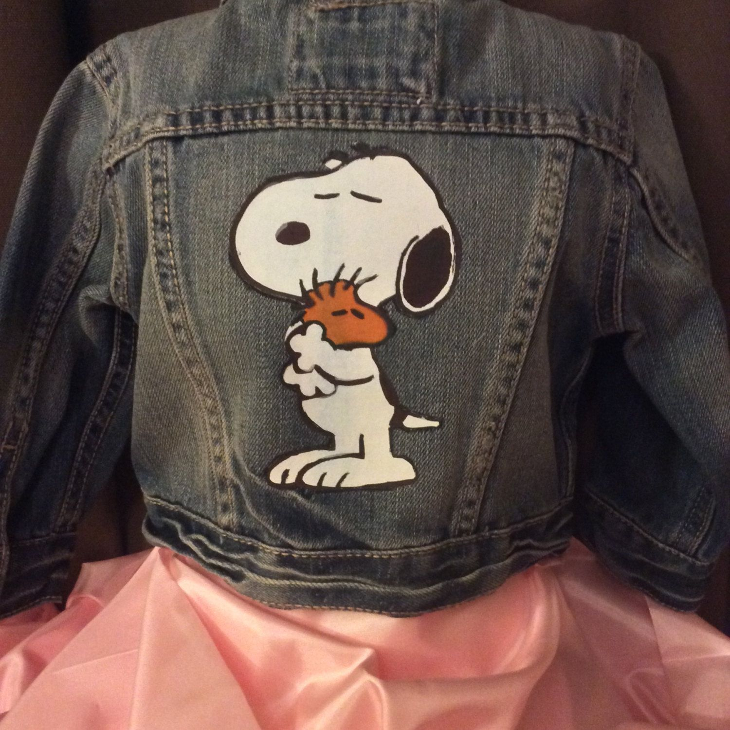 Items similar to Snoopy Jean Jacket-Boys or Girls Snoopy-Add Lace for Girls-Peanuts Jacket-Charlie Brown-Peanuts Birthday Party-Kids Jean Jacket on Etsy