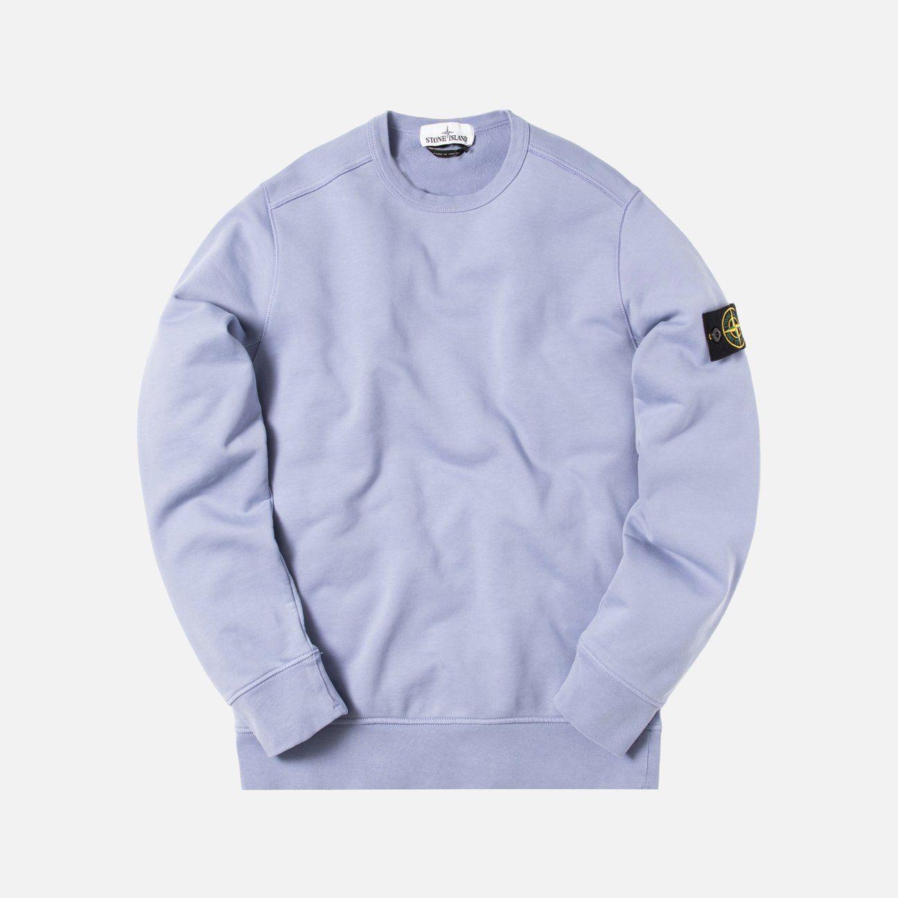 Stone Island Fleece Garment Dyed Crewneck Lavender Kith Garment Dye Garment Stone Island [ 1296 x 1296 Pixel ]