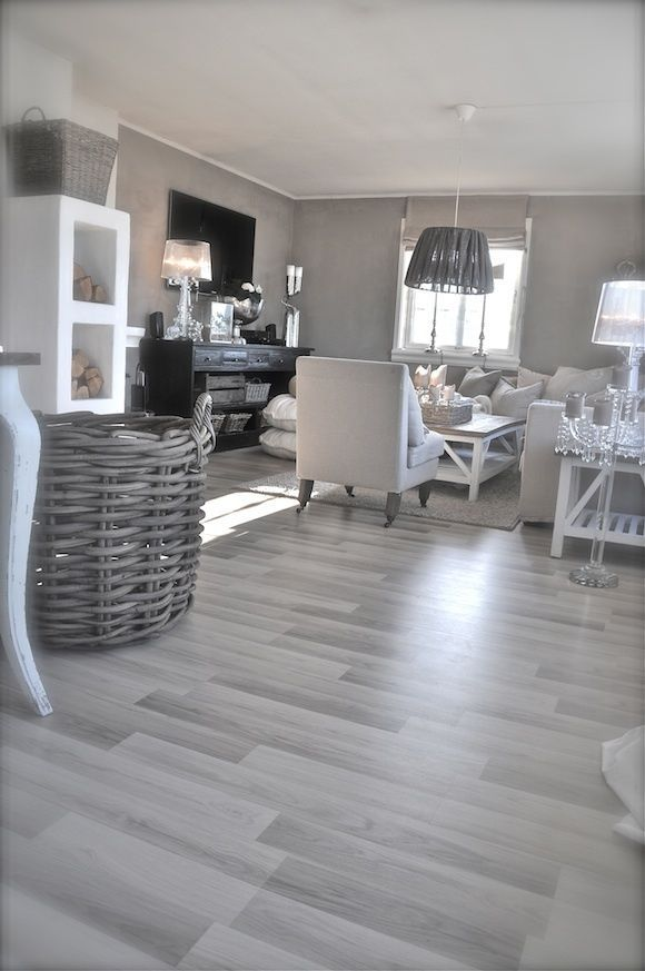 Love The Grey Walls White Trim With The Dark Wood Floors Living Room Greg Natal In 2020 Living Room Grey Living Room Flooring Grey Laminate Flooring