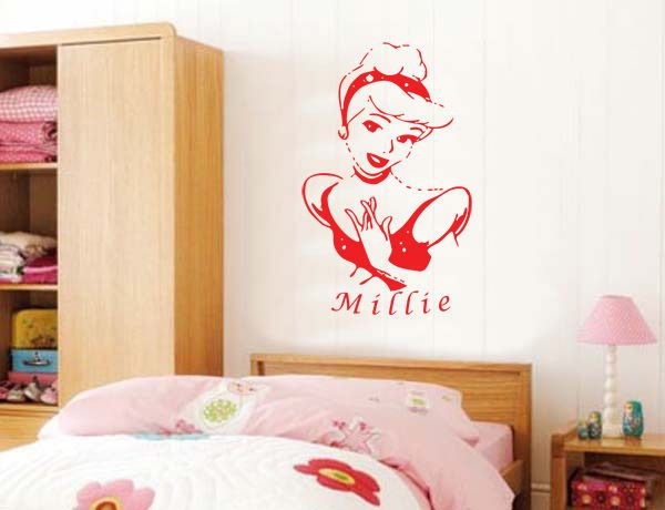 Disney Princess - Personalised with name of your choice - Childrenu0027s Wall Decal & Disney Princess - Personalised with name of your choice - Childrenu0027s ...