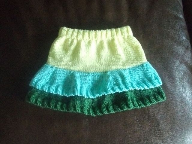 Knitting Skirt Tutorial : Ravelry little layered baby skirt pattern by helen white
