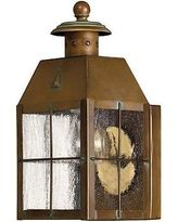 Antique Light Fixtures. Nantucket Small Porch Light With Clear Seedy Glass