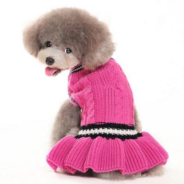 School Girl Dog Sweater Dress By Dogo Knit Dog Sweater