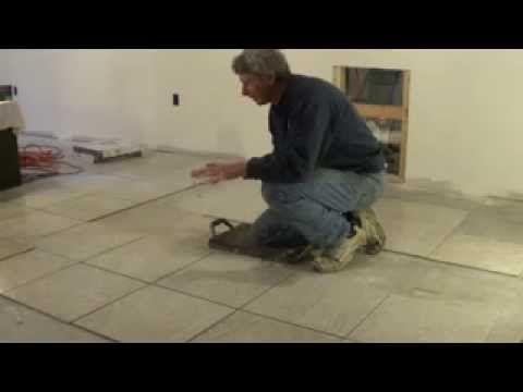 How I Lay Tile On A Concrete Floor Part 1 Of 2 Mike Haduck Concrete Floors Diy Concrete Stained Floors Concrete Tile Floor