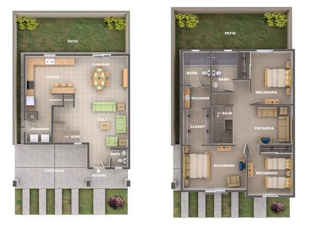 Plano de casa de dos pisos planos casas dos plantas for Planos de casas de dos pisos pequenas gratis