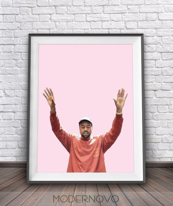 Kanye Poster Kanye West Poster I Feel Like Pablo By Modernovo West Art Sign Poster Poster Wall Art