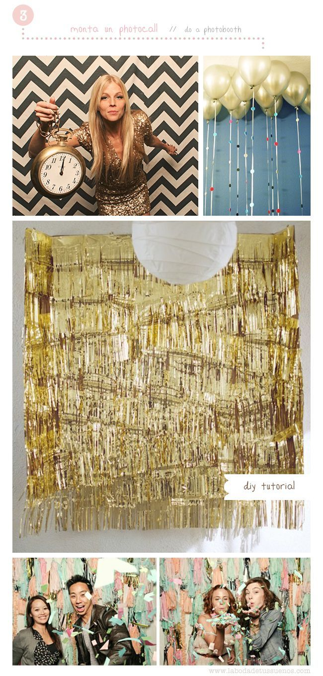 Photo booth idea #party   party ideas   New years eve ...