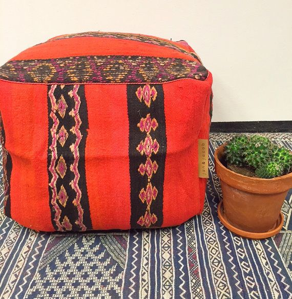 Poufs For Sale Extraordinary Sale New Handmade Unique Kilim Moroccan Poufpoefosmanepuff Design Ideas