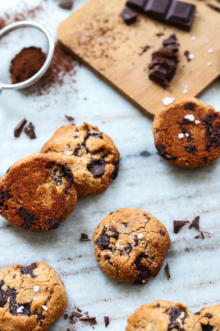 Flourless Chocolate Chip Cookies 1 Bowl Vegan And Gluten Free Recipe Gluten Free Chocolate Chip Cookies Gluten Free Chocolate Chocolate Chip Cookies