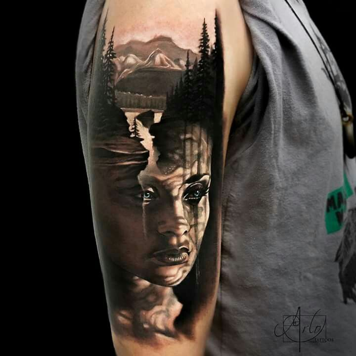 Arlo Dicristina Tattoo Artist: By Arlo DiCristina The Image Is Coming Out Of His Arm