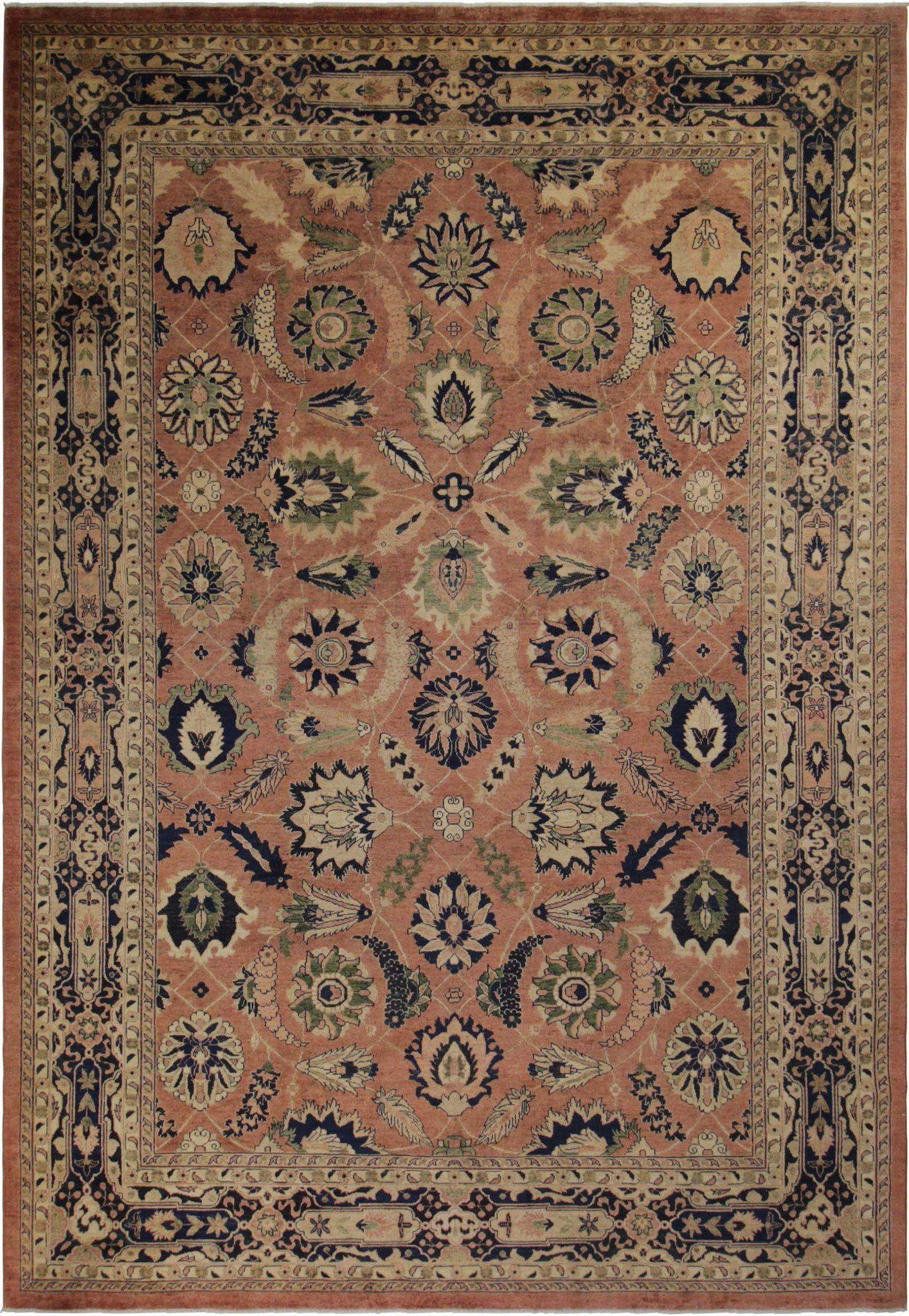 10 X 14 Rose Olive Peshawar Ziegler Rug With Images Rugs