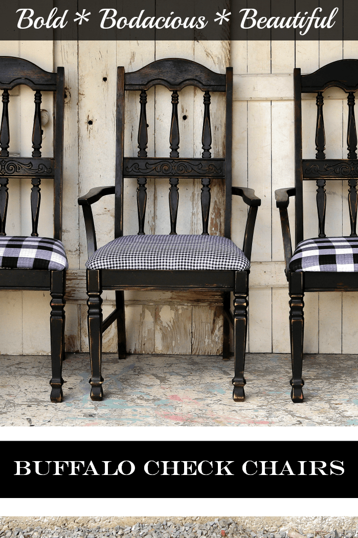 Buzz-Worthy Black And White Buffalo Check Chairs | Buffalo ...