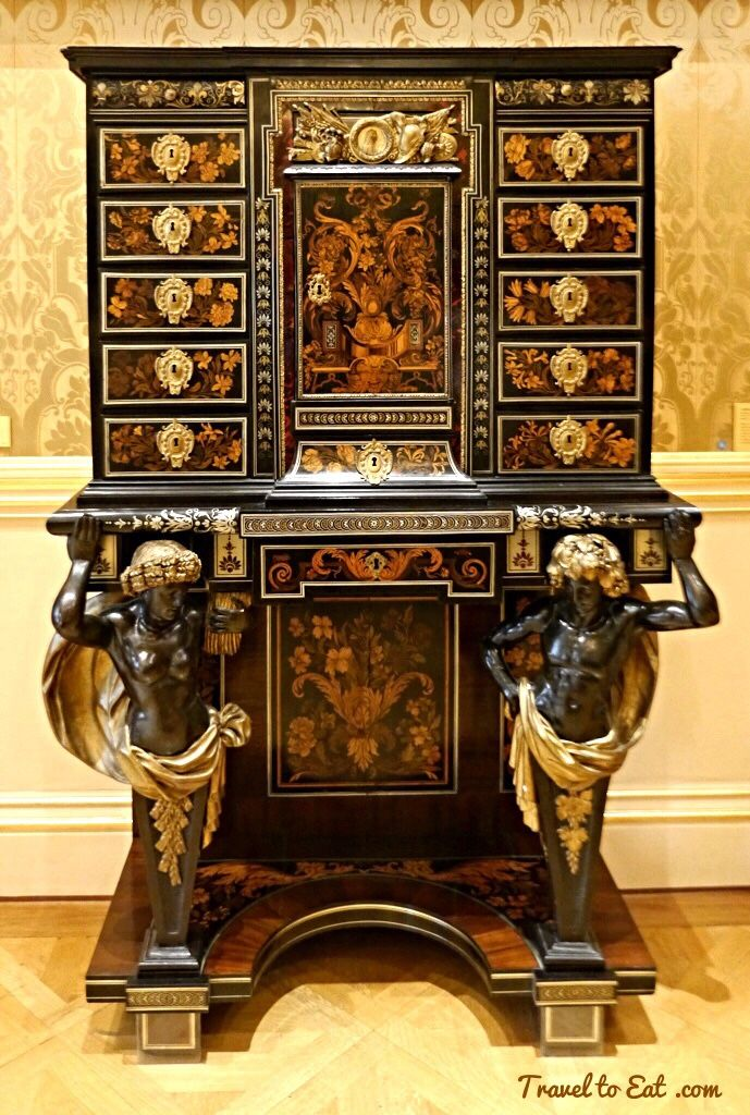 Cabinet on Stand attributed to André-Charles Boulle 1665-70. Wallace Collection, London