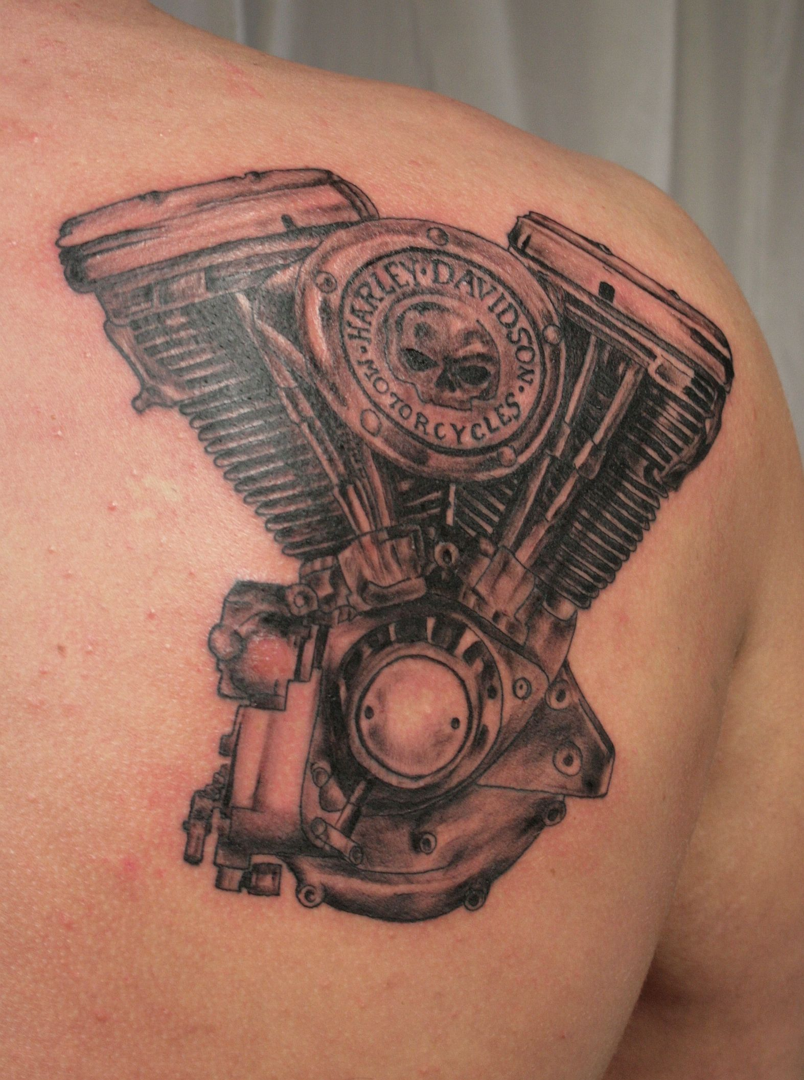 Route 66 tattoo picture at checkoutmyink com - This Tattoo Of A Harley Davidson Engine Was A Pleasant Surprise Description From Peachesandcream