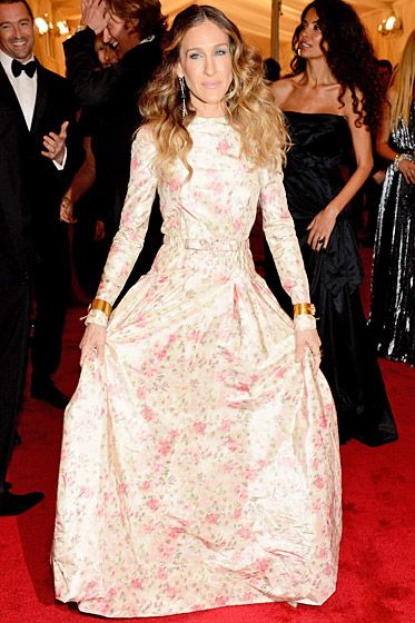 Met Costume Gala 2012: What the Stars Wore: Sarah Jessica Parker. Love this - so feminine and modest