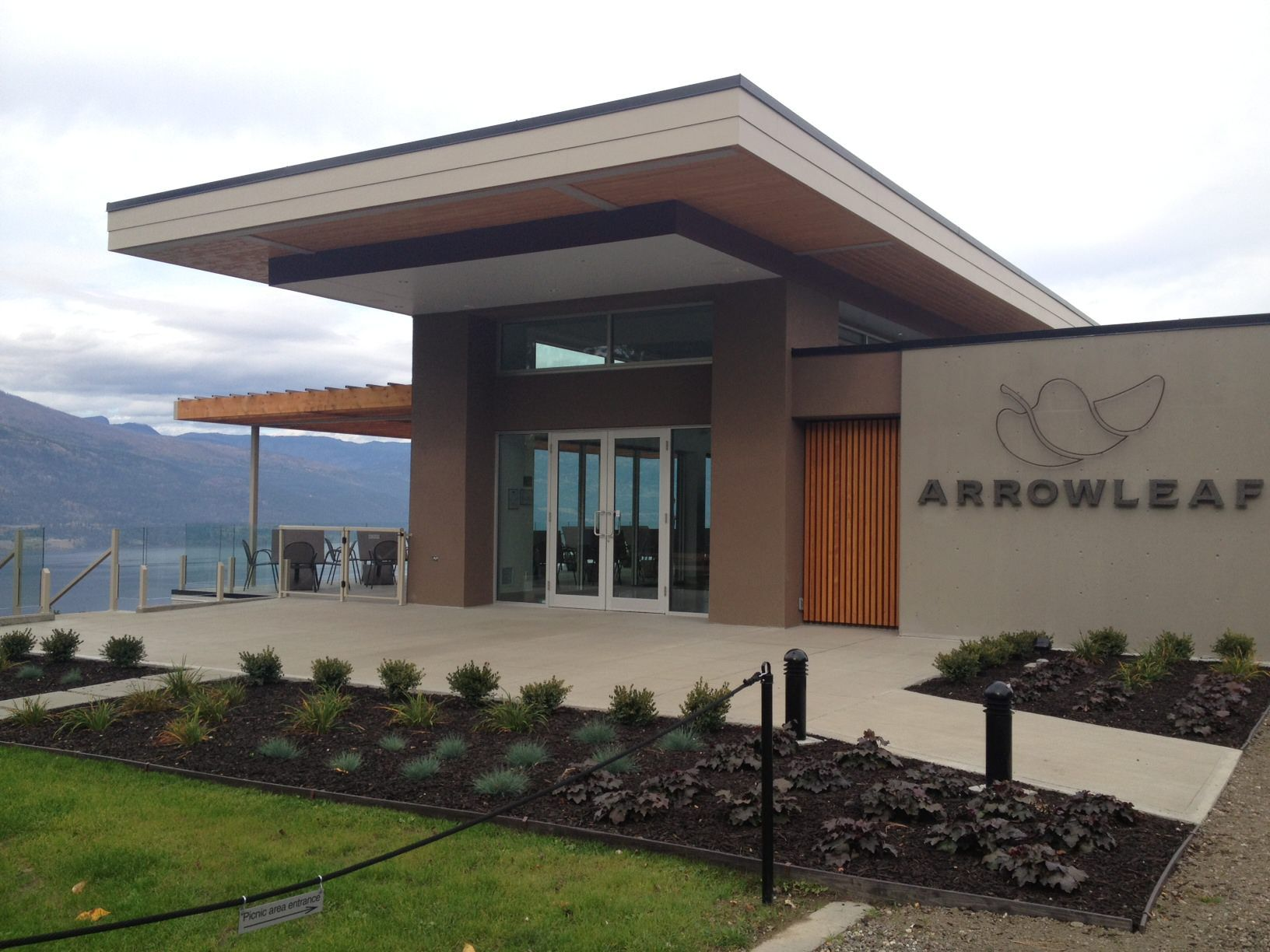 Arrowleaf Winery - Beautiful view of the lake from their awesome patio! & Arrowleaf Winery - Beautiful view of the lake from their awesome ...