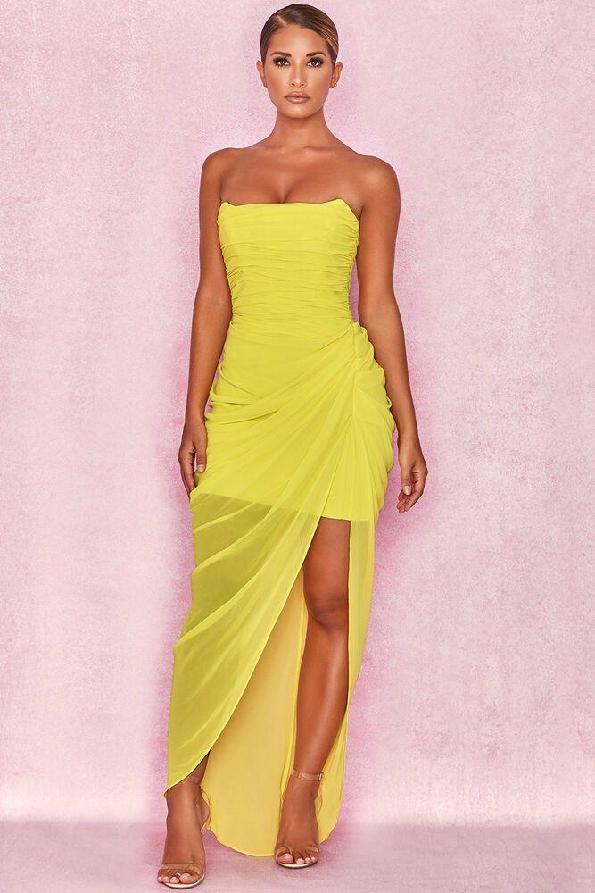 Chiffon Draped Corset Dress XS