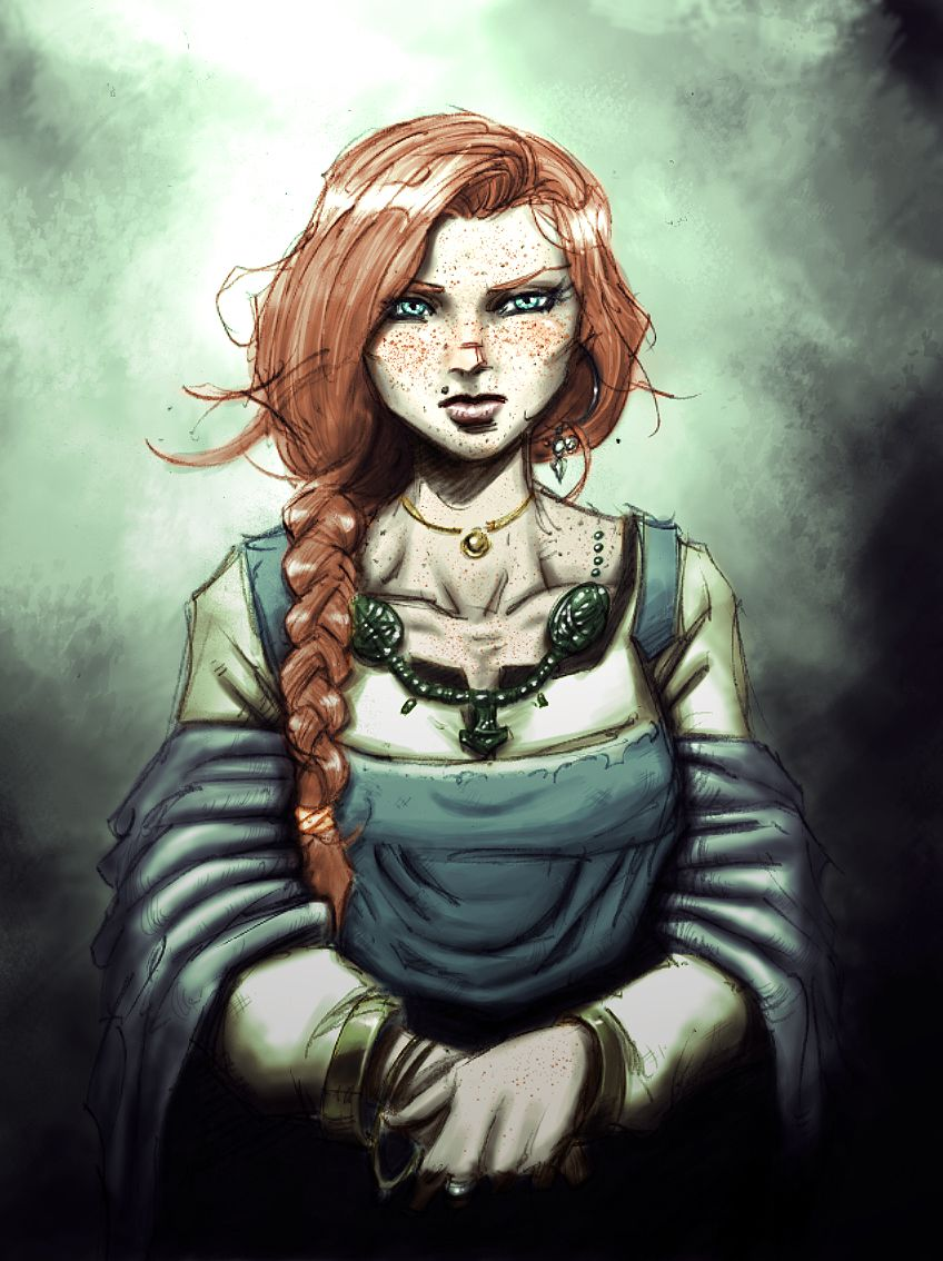 Viking Girl Women Medieval Vikings Redhead Art
