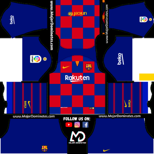 new concept 21f97 bd3ef F.C. Barcelona Nike Kits 2019 -20 For Dream League Soccer ...