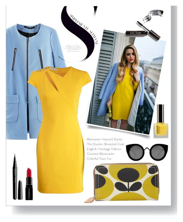 """Untitled #9"" by georgia-sotiriadi ❤ liked on Polyvore featuring Versace, Orla Kiely, Smashbox, Marc Jacobs, Quay, Bobbi Brown Cosmetics, outfit and fashionset"
