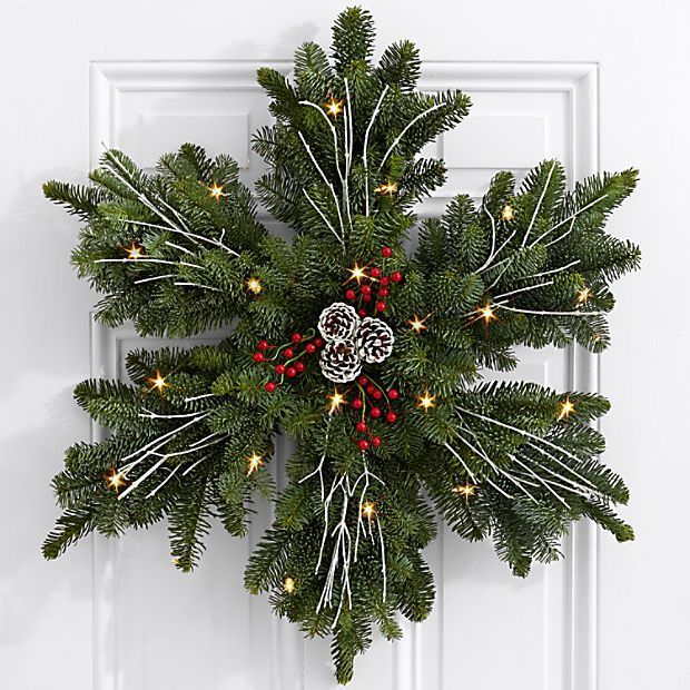 #Fir #Frosted #Search #Wreath #deconoelmaisonexterieur