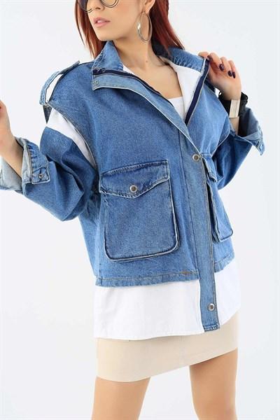 99 95 Tl Cep Detay Mavi Bayan Kot Ceket 28513b Modamizbir 2020 Kot Ceket Siyah Keten Moda Stilleri