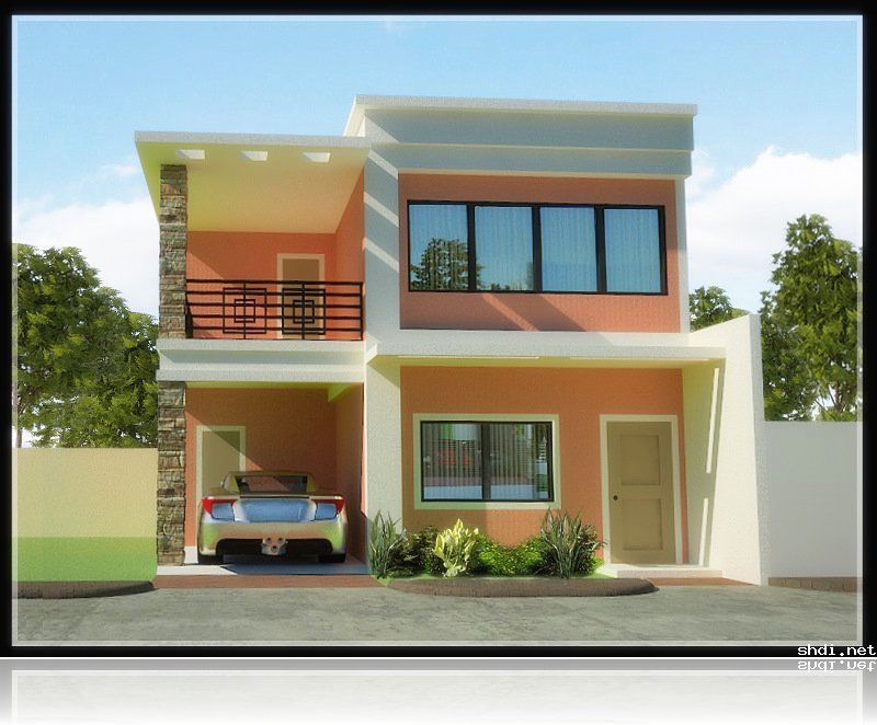 House plans and ideas two storey house design pictures for Budget home designs philippines