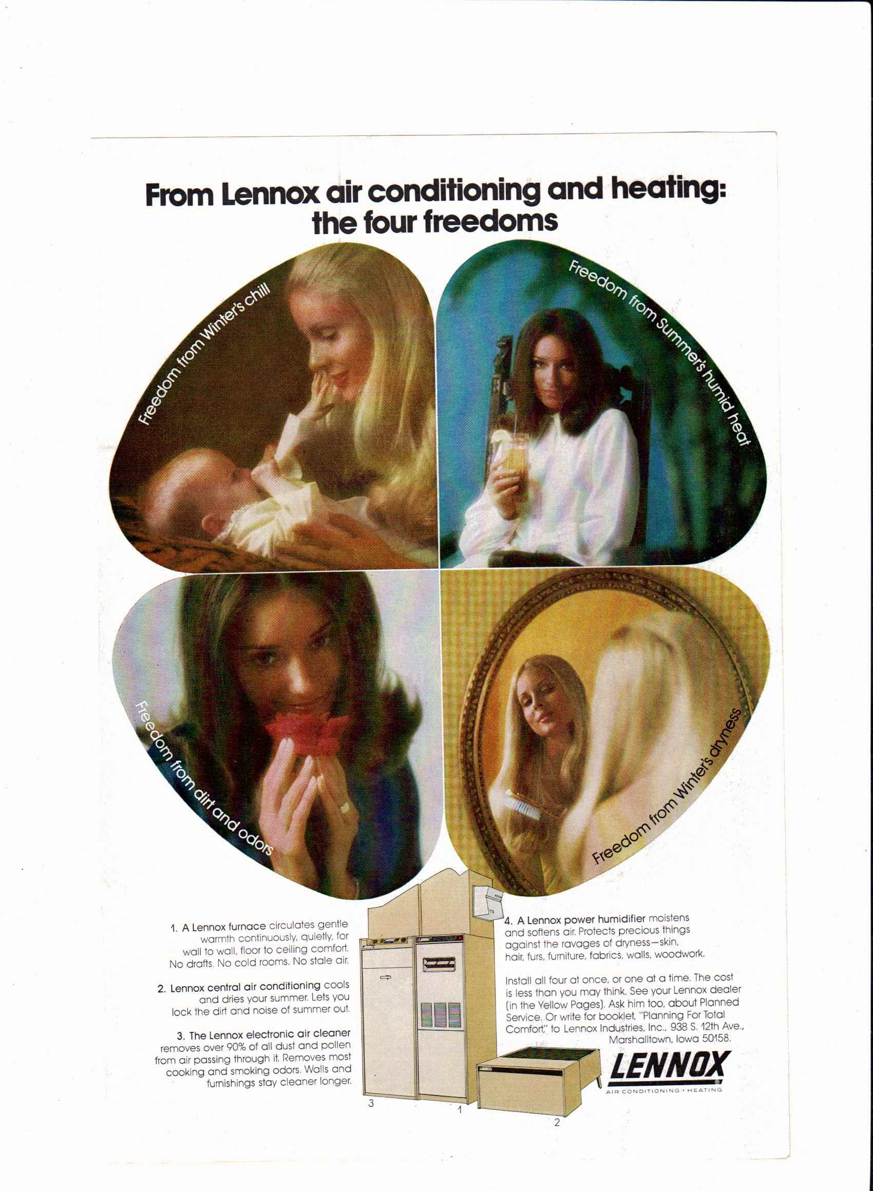 1971 Lennox Air Conditioning And Heating Ad National Geographic