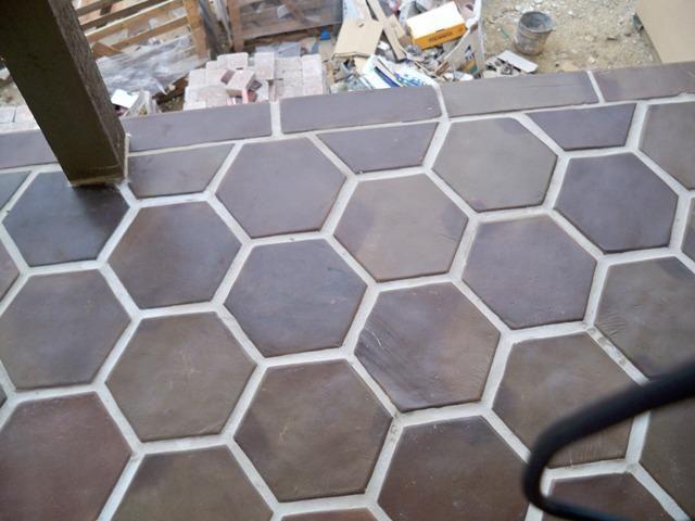 8x8 Hexagon Manganese Saltillo Mexican Tiles By Rustico