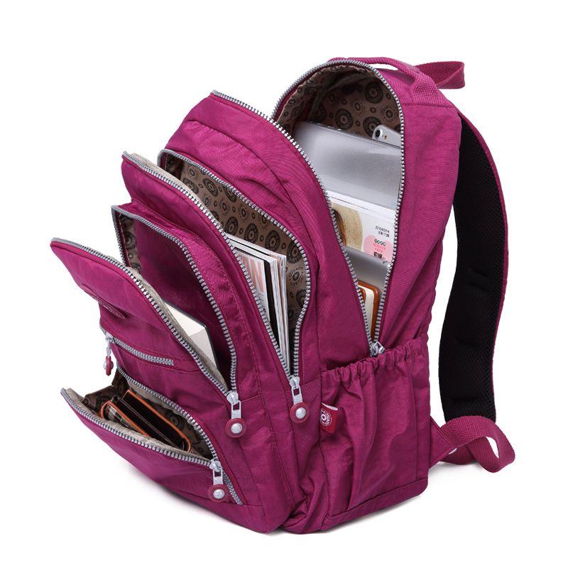 c27e45411c Mochila escolar para Adolescentes Menina Mochilas de Nylon Impermeável  bolsa Para Laptop Ocasional Mochila Feminina Mulheres