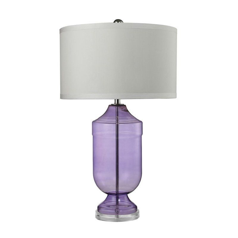 Dimond Lighting Translucent LED Table Lamp in Translucent Purple #DimondLighting