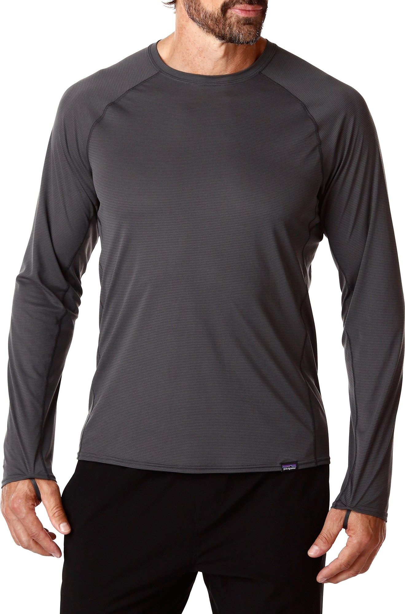 Capilene Lightweight Long Underwear Crew Top - Men's | Tops ...