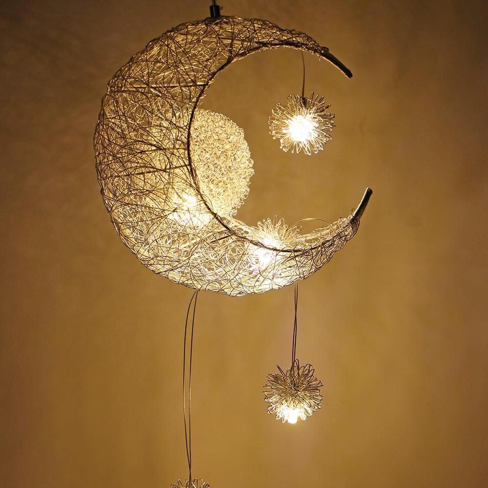 Modern Moon Star Pendant Ceiling Lamps For Home Decorations Vintage Home Decor Ideas Ideas Home Decor H Star Pendant Lamp Pendant Ceiling Lamp Star Chandelier