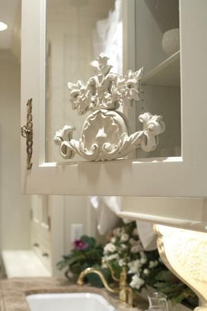 Try Adding A Wood Applique On A Glass Front Cabinet Door For That