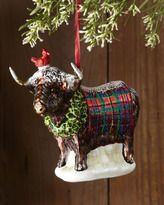 mackenzie childs christmas-mackenziechilds highland cow christmas ornament