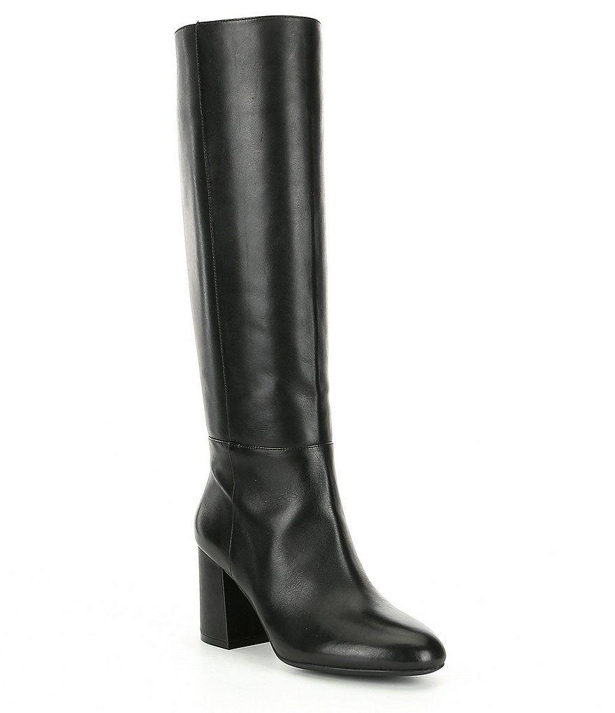 30780ddb73d Antonio Melani Bretal Narrow Calf Tall Block Heel Boots