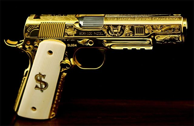 Colt Golden Marine 1911 Google Search Jackrussell Armas Arma