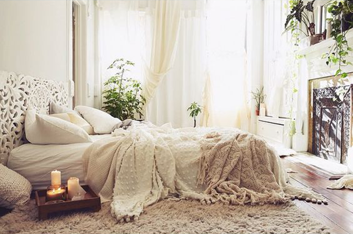 Geef je slaapkamer een romantische uitstraling pinterest