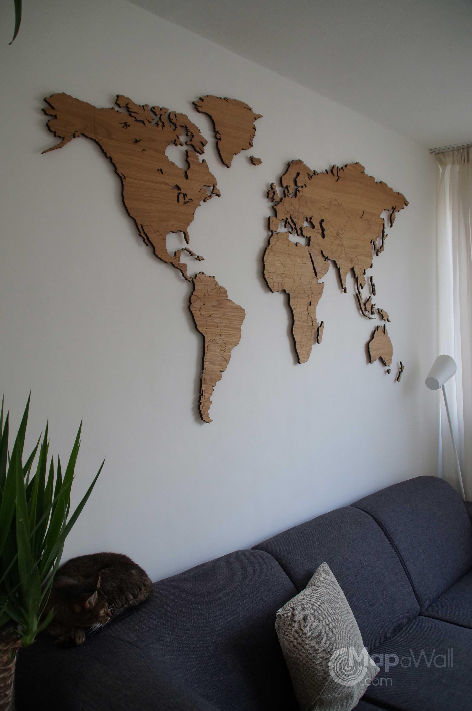 World map Oak – Mapawall.com | Iç mekanlar en 2019 | Idee ...