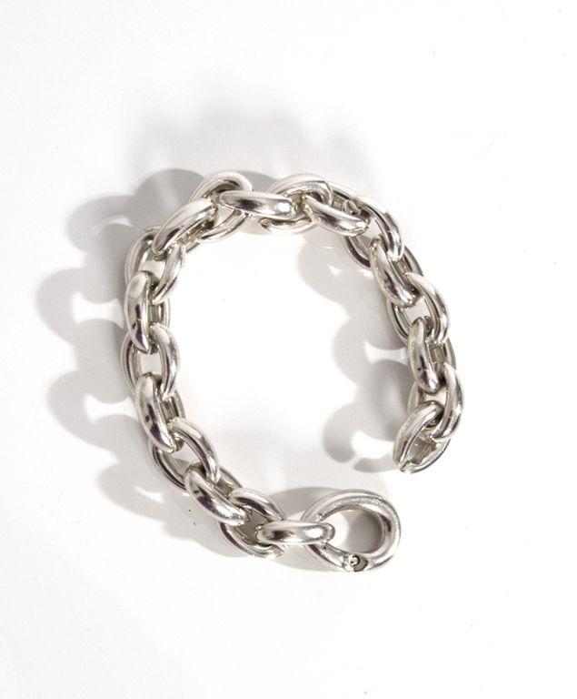 0a22d2da3 Hermes Acrobat Modèle Moyen Silver Chain Bracelet | From a unique  collection of vintage chain bracelets