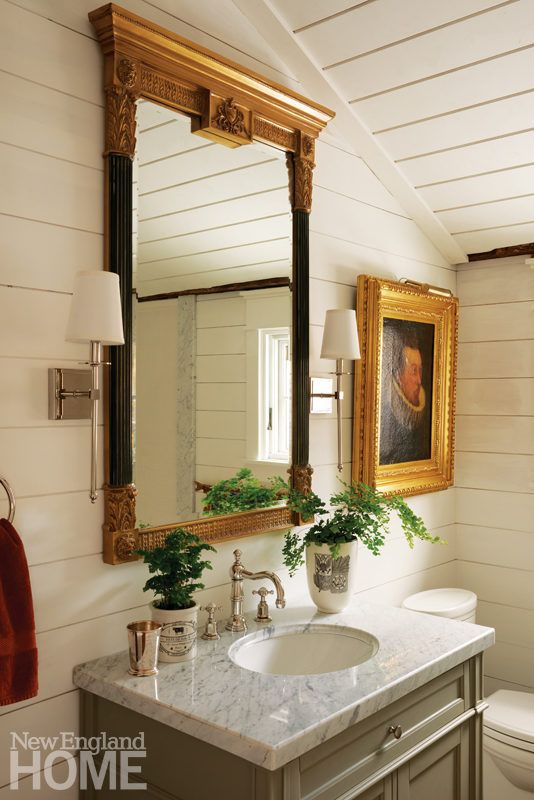 an elegant colonial era home with an americana flair mix and chic