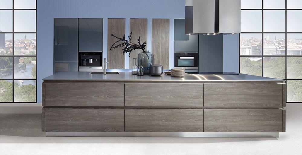 Küche blau grau  Schröder Küchen | Küche ohne Griffe | Sherwood H/V GLV cigar, Luce ...