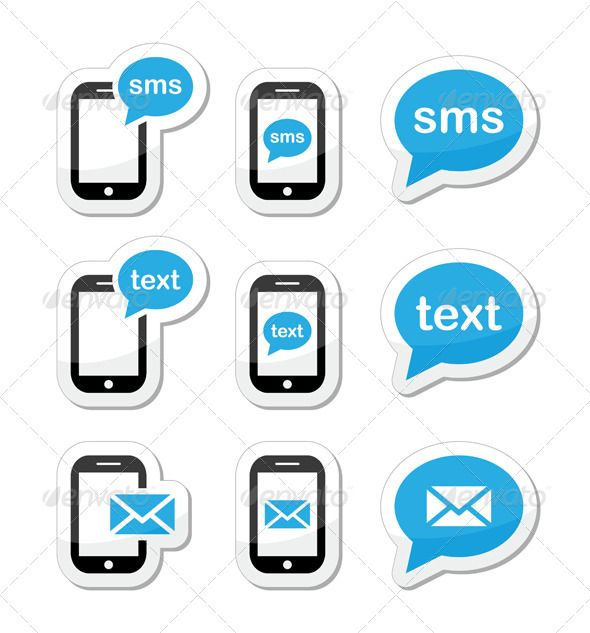 Mobile sms text message mail icons Text message icon