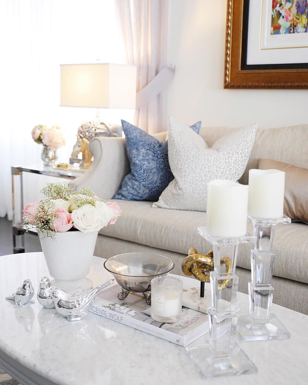 Living room family room | coffee table styling | Classy Glam Living ...